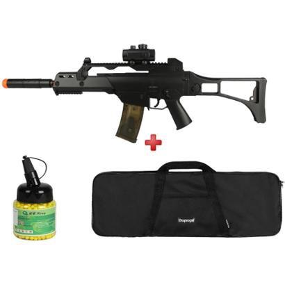 Rifle Airsoft Elétrico Cyma G36 CM. 021 + Capa Simples + BBs BB King 0.12g 1000un - Unissex