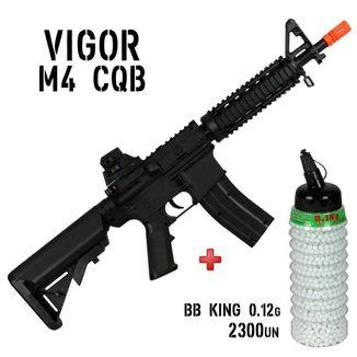 Rifle Airsoft Spring Vigor M4 + BBs Bb King 0.12g 2300