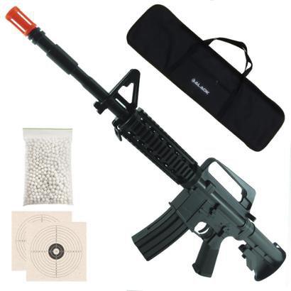 Rifle Airsoft Vigor Vg M16 Ris Spring + 1000 Bb's 0,12G + 2 Alvos + Capa - Unissex