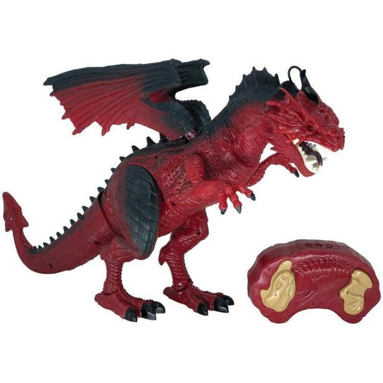 Robô com Movimento Dragão de Fogo Criaturas RC - Vermelho