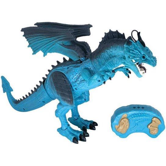 Robô com Movimento Dragão de Gelo - Azul