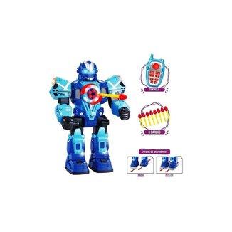 Robot Fighting Lança 5 Dardos Seguidos Anda Dança Brilha - Polibrinq
