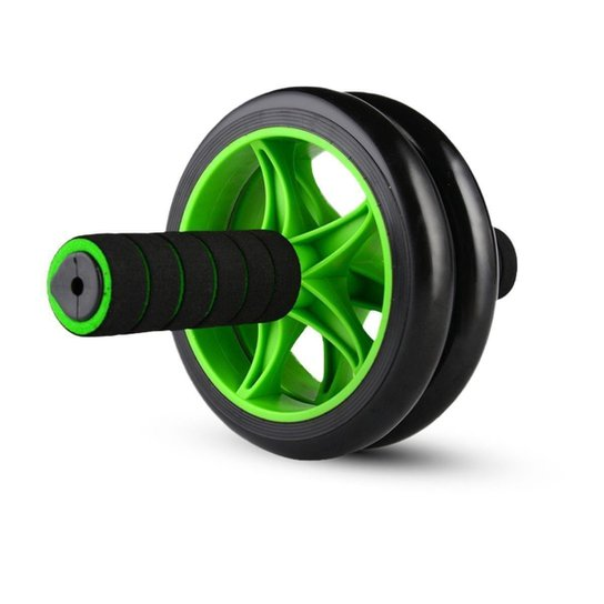 Roda Abdominal Wheel Balance - Preto+verde