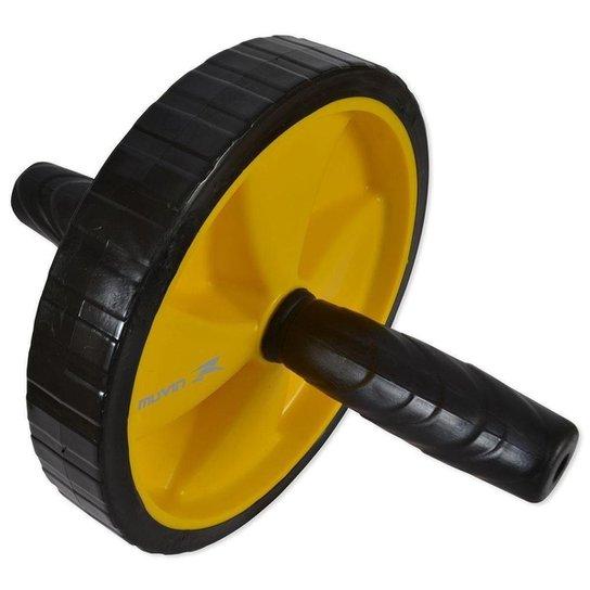 Roda de Exercícios Abdominais Muvin - Preto+Amarelo