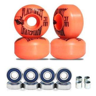 Roda De Skate Black Sheep 51mm Laranja E Abec3 E Espaçadores