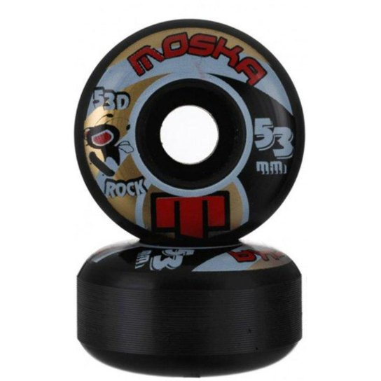 Roda Moska Black Rock 53 - Preto
