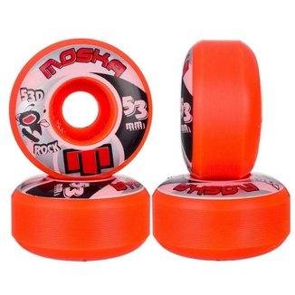 Roda Moska Skate 53mm Poliuretano Dureza 53D