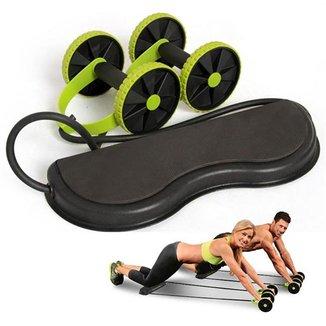 Roda para exercício abdominal com elástico Golds Sports Revoflex Extreme CBR03075