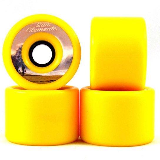 Roda San Clemente 76mm 80A - Amarelo