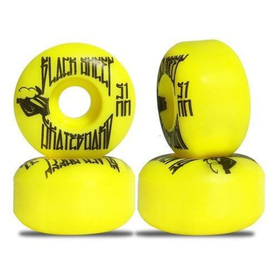 Roda Skate Black Sheep 51mm 95a Amarela - Amarelo