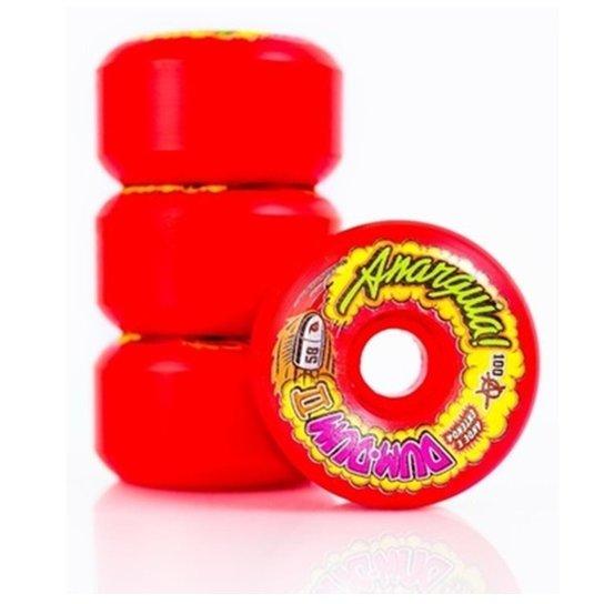 Rodas Anarquia Dum-Dum II 58mm 100a Vermelha -
