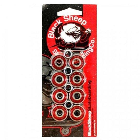 Rolamento Black Sheep Abec 5 Vermelho - Vermelho