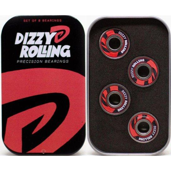 Rolamento Dizzy Rolling De Precisão - Aço - Preto+Vermelho