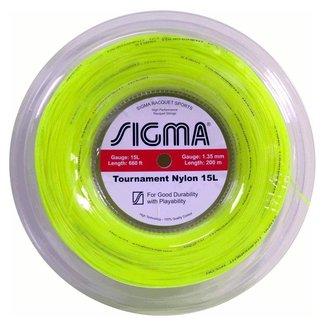 Rolo de Corda Sigma Tournament Nylon 15L / 1.35 (Rolo com 200 metros)-Amarelo
