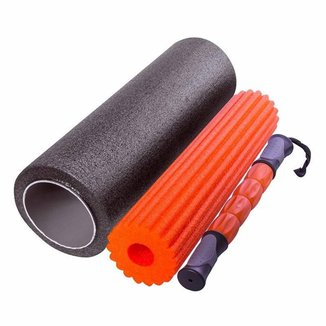 Rolo de Massagem Liberação Miofascial Foam Roller 3 Em 1 Yangfit