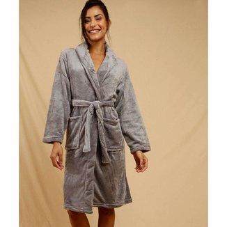 Roupão Feminino Fluffy Fleece Andreza - 10048060158