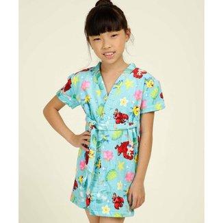 Roupão Infantil Estampa Princesa Ariel Disney - 10043760183