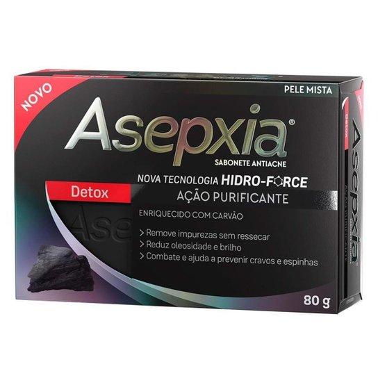 Sabonete Antiacne Asepxia Detox 80g - Incolor