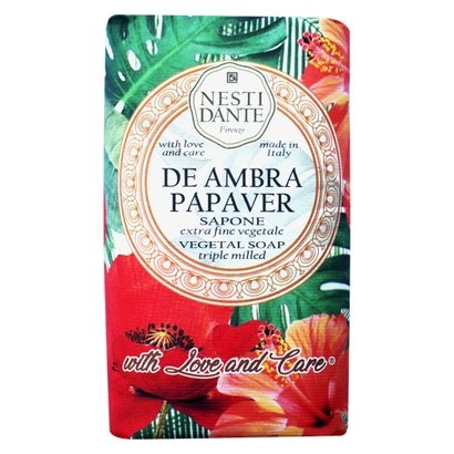 Sabonete em Barra Nesti Dante - With Love and Care Ambar e Papoula 250g