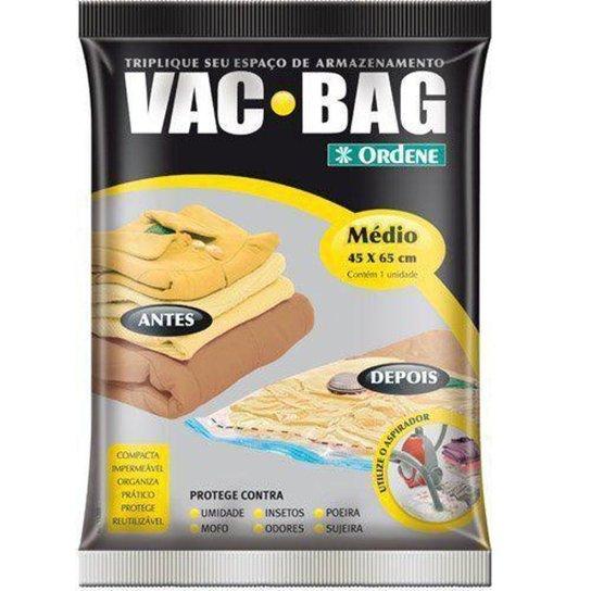 Saco A Vácuo Protetor e Organizador - VAC BAG 45 X 65 - Médio - Amarelo