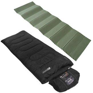 Saco De Dormir Tipo Envelope Vezper Até 5°C  + Isolante Térmico Thor Azteq