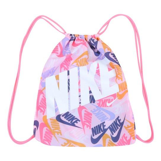 Sacola Infantil Nike Gymsack - Rosa+Branco