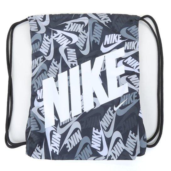 Sacola Infantil Nike Gymsack - Preto+Branco