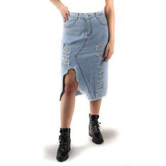 Saia Jeans Midi Naraka