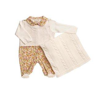Saída Maternidade Em Tricot Trançado - Anjos Baby - Amarelo - Rn