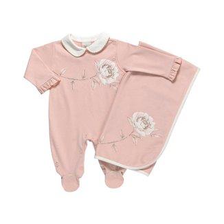 Saída Maternidade Feminino Em Suedine - Anjos Baby - Rosa - Rn