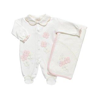 Saída Maternidade Feminino Suedine - Anjos Chic - Off White - Rn