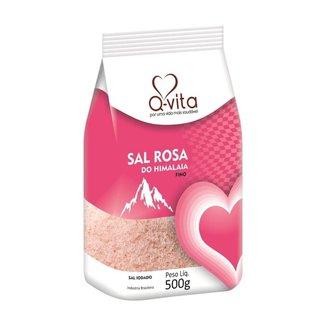 Sal Rosa do Himalaia Fino 500g Q-Vita