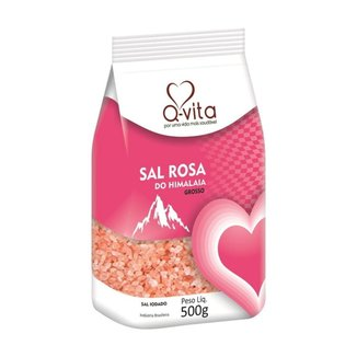 Sal Rosa do Himalaia Grosso 500g Q-Vita