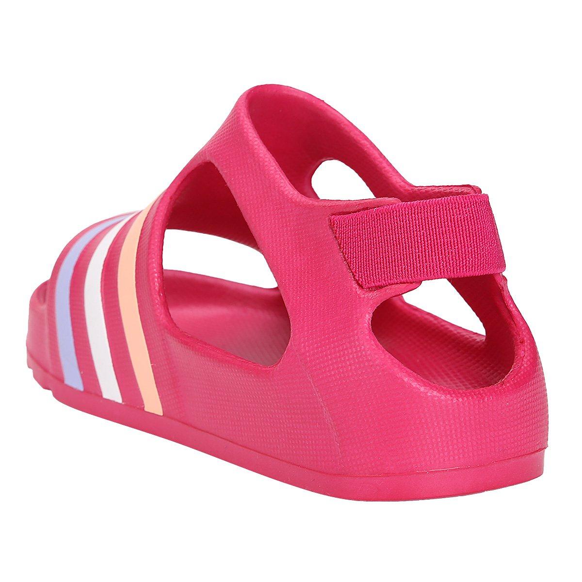 0786fa3c78e ... Sandália Adidas Adilette Play 1 Infantil - Pink+Rosa. OFERTAS  OPEC