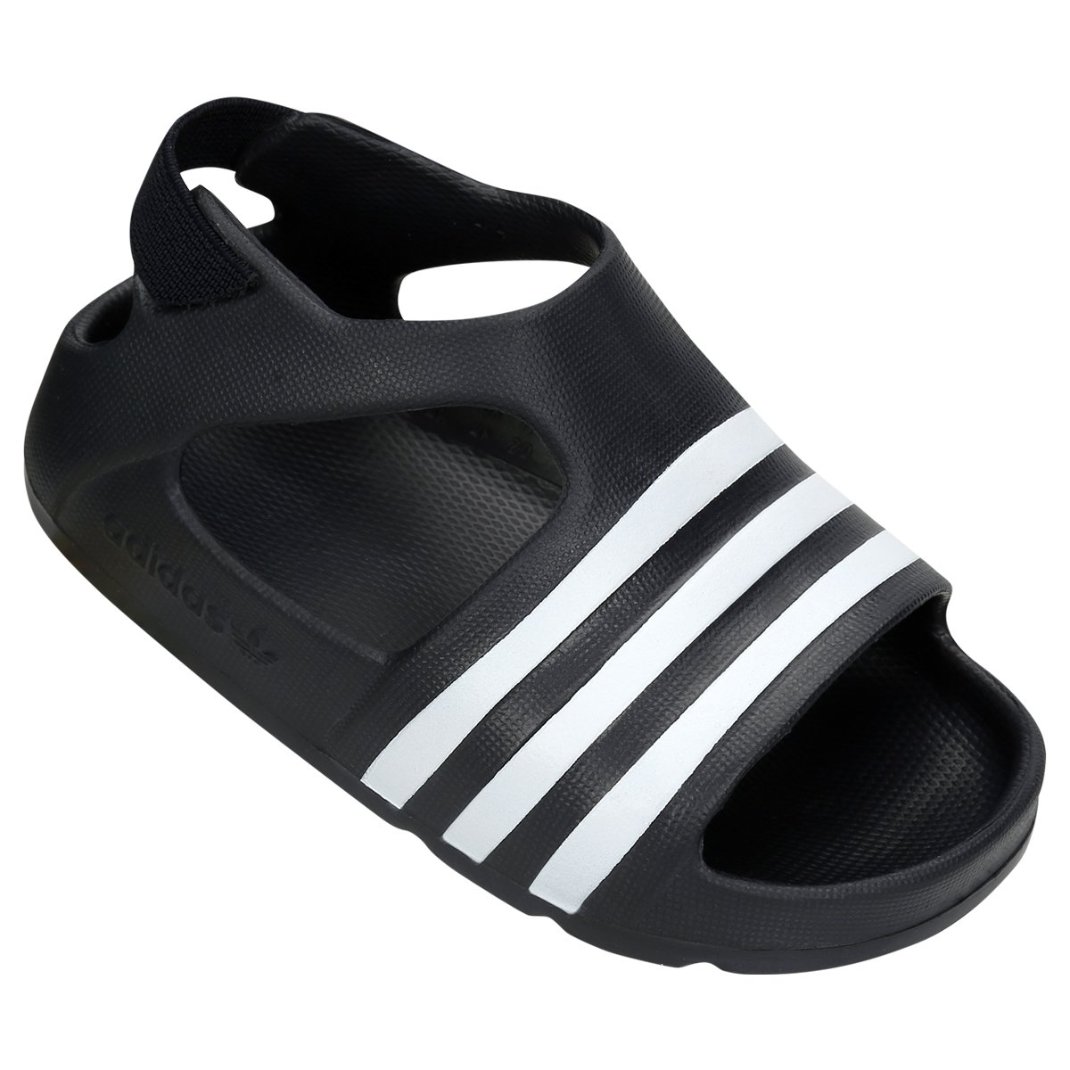 5d4f5eed81a Sandália Adidas Adilette Play 1 Infantil - Preto e Branco adidas adilette  infantil