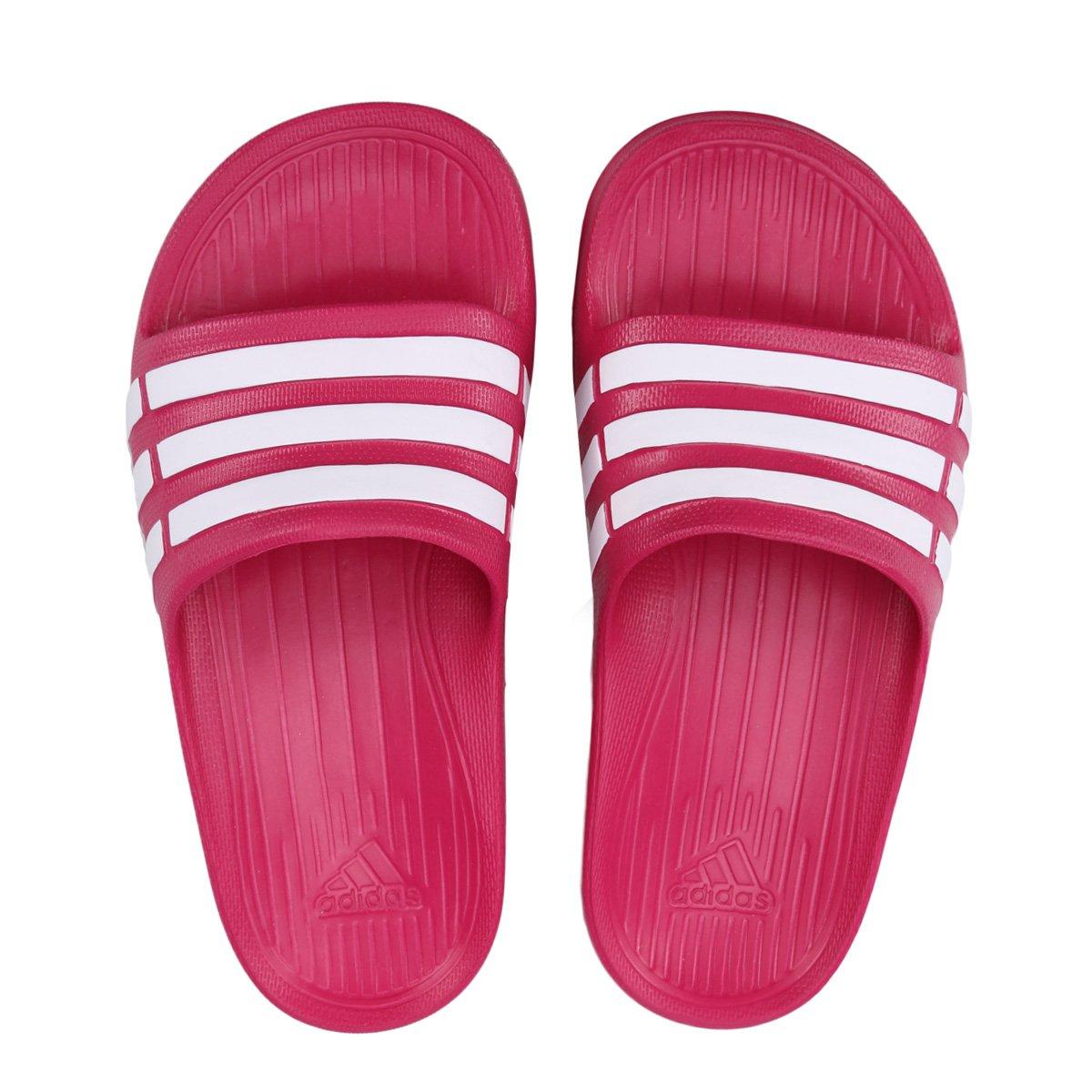 Sandália Adidas Duramo Slide K Synth Infantil - Pink e Branco - Compre  Agora  5f520198c75