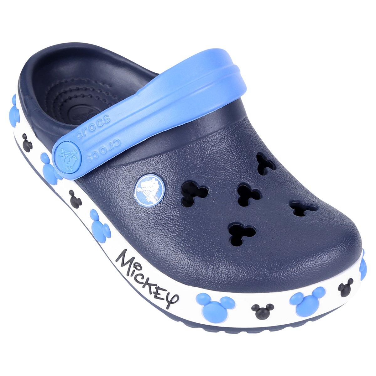 Iv Clog Sandália Mickey Infantil Marinho Crocband Branco Crocs E UVzGqMpS