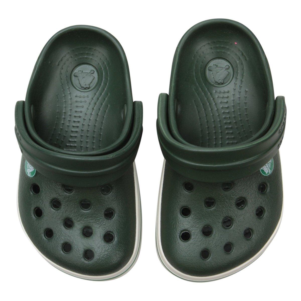 c79c37493d5 Sandália Crocs Infantil Crocband - Verde e Branco - Compre Agora ...