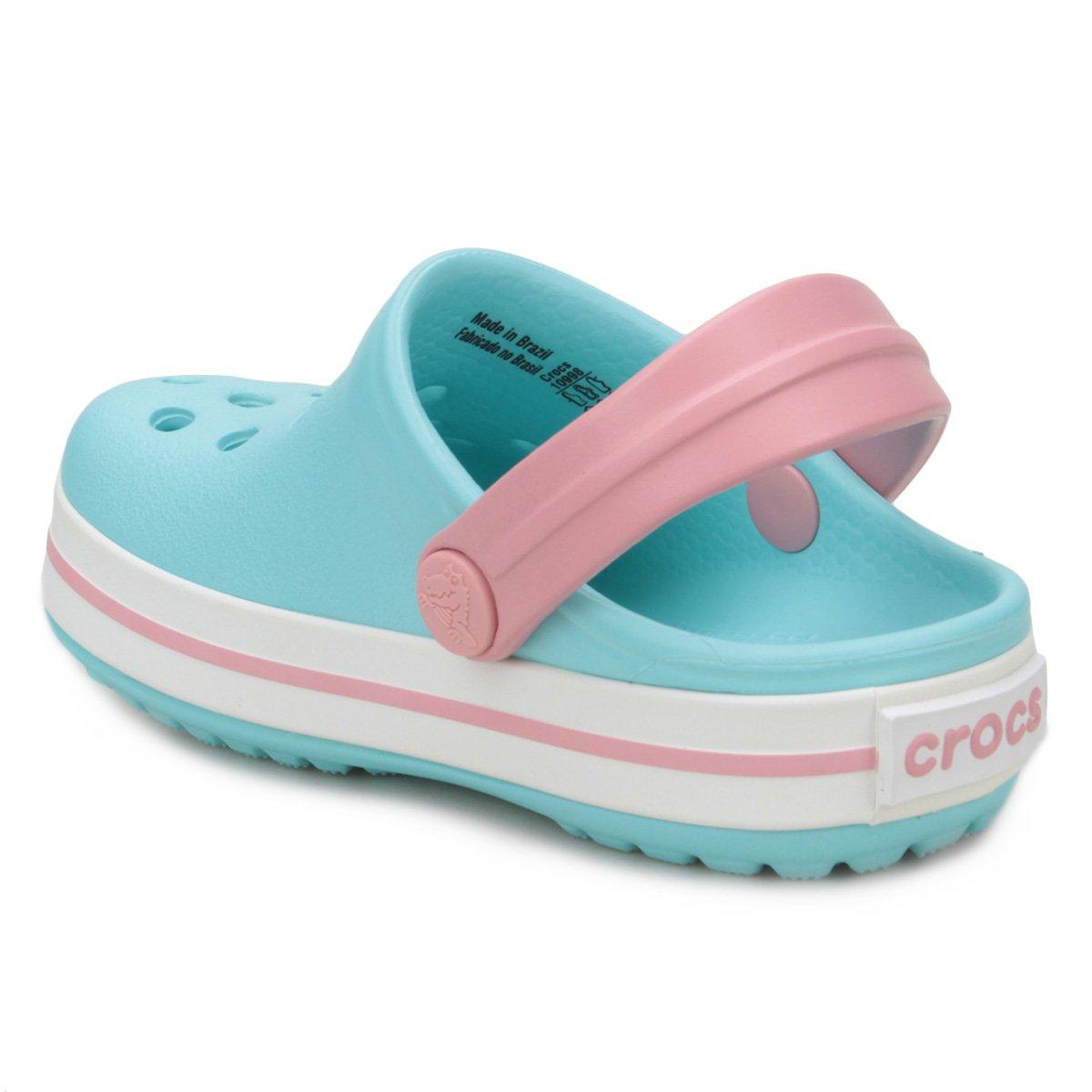 e5e9b9f5069 Sandália Crocs Infantil Crocband - Azul e Branco - Compre Agora ...