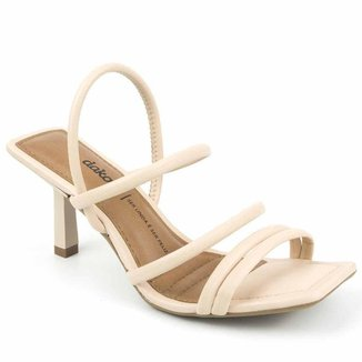 Sandália Dakota Salto Médio Bico Quadrado Feminina