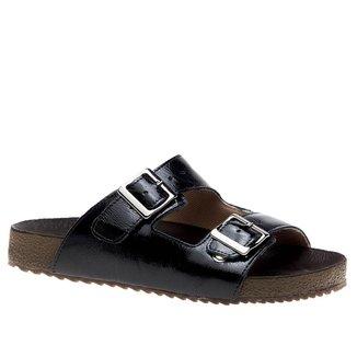 Sandália Feminina Birken em Couro  Preto 214  Doctor Shoes