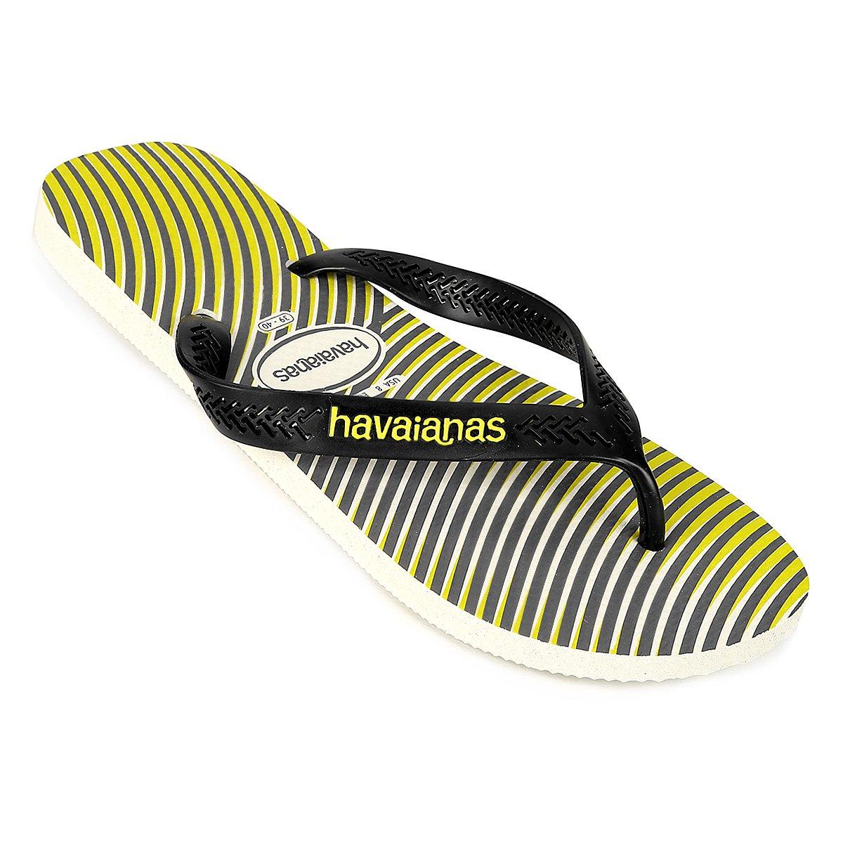Masculina e Havaianas Havaianas Sandália Sandália Amarelo Graphic Preto Aero XK10q