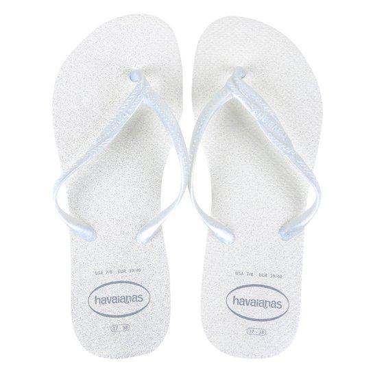 Sandália Havaianas Fantasia Gloss Feminina - Branco