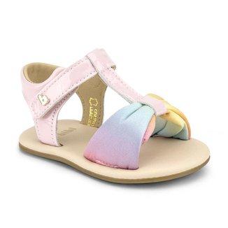 Sandália Infantil Bibi Afeto V Feminina Rosa Rainbow 1084112
