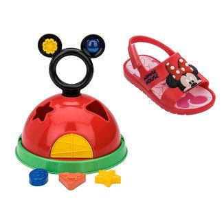 Sandália Infantil Disney Grendene Kids Mickey e Minnie Baby