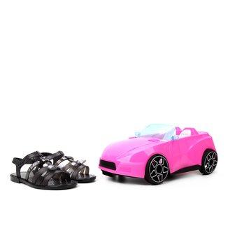 Sandália Infantil  Grandene Kids Barbie Pink Car Feminina