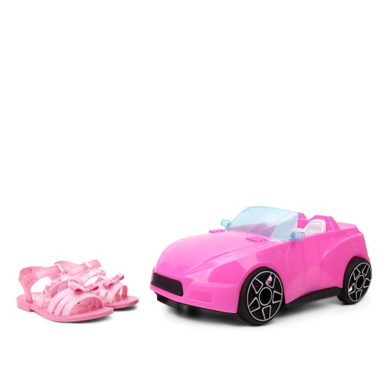 Sandália Infantil  Grandene Kids Barbie Pink Car Feminina - Pink