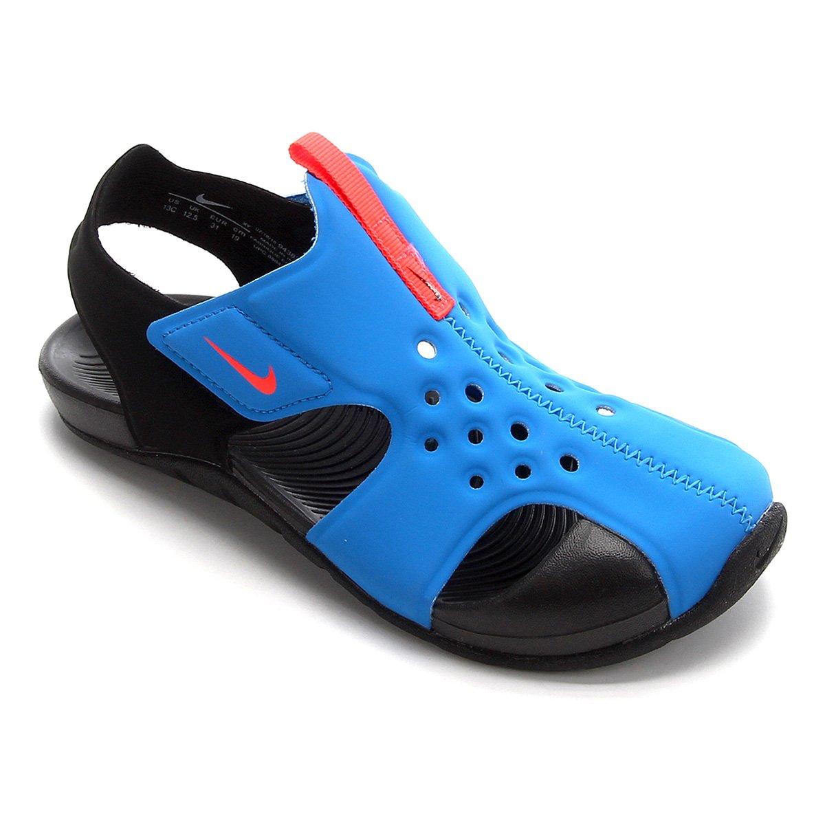 outlet brand new in stock Sandália Infantil Nike Sunray Protect 2 - Azul e Preto