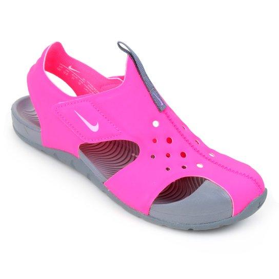 Sandália Infantil Nike Sunray Protect 2 - Rosa+Lilás
