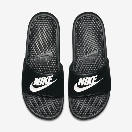 Sandália Nike Benassi JDI Masculina - Preto+Branco